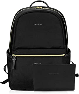 KROSER Laptop Backpack 15.6 Inch Fashion School Computer Backpack Water-Repellent Nylon Casual Daypack with USB Charging Port for Travel/Business/College/Women/Men