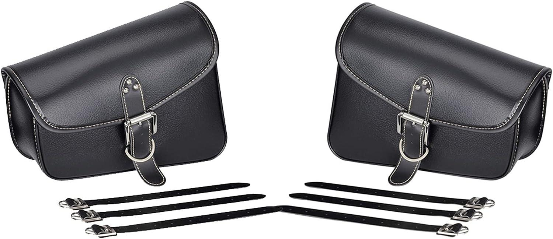 KIILING Motorcycle Bag Time sale PU Leather Saddle Saddlebag Swingarm Max 57% OFF