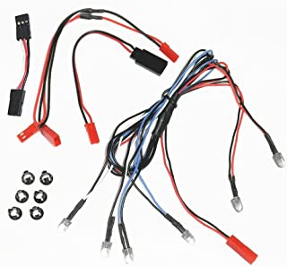 BASTENS RC Car Truck 6 LED body lights kit set with Snap-In Holder Rings 2 White Headlight 2 Red Tail Lights 2 Blue Fog or Parking Accessory fits most 1/10 1/16 1/18 scale Traxxas Axial Losi RedCat