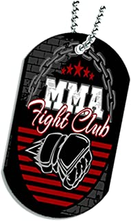 Dog Tag Pendant Necklace - MMA Fight Club