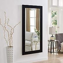 Creative Arts n Frames Fiber Wood Bathroom Mirror (15 x 40 inch, Black)