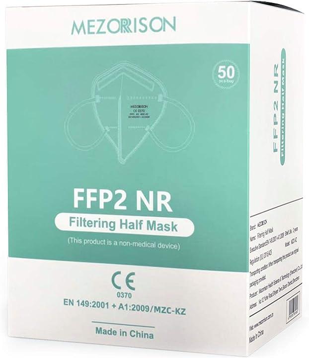 Mascherine ffp2 - 50 mascherine - certificata ce 0370  - mezorrison MZC-KZ