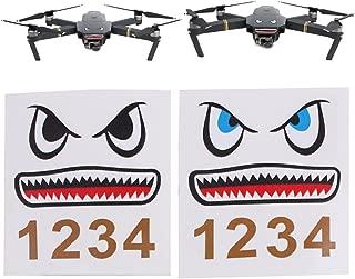 Hacloser 2 pcs Shark Sticker Decal Skin Cute Face Sticker for DJI Mavic Pro Drone
