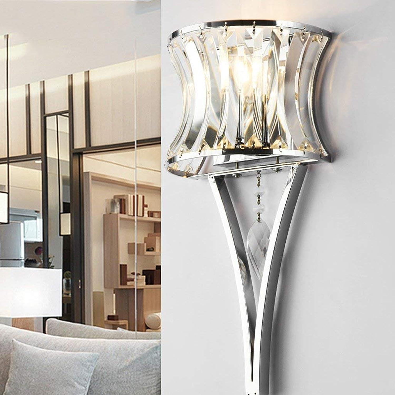 JU Kristallwandleuchte Moderne Mode Nachttischlampe Schlafzimmer Wandleuchte Gang Korridor Eingang Beleuchtung