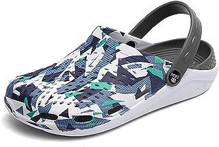 YQK Clogs Shoes, Summer Unisex Garden Clogs Shoes Sandals EVA Lightweight Beach Slippers Non-slip Mule Clog Shoes Water Sh...