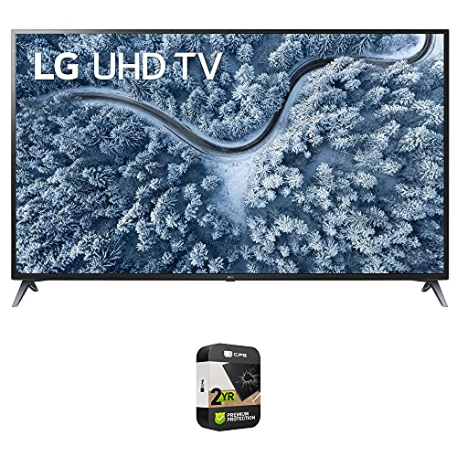 LG 70UP7070PUE 70 Inch LED 4K UHD Smart webOS TV (2021 Model) Bundle with Premium 2 Year Extended Protection Plan