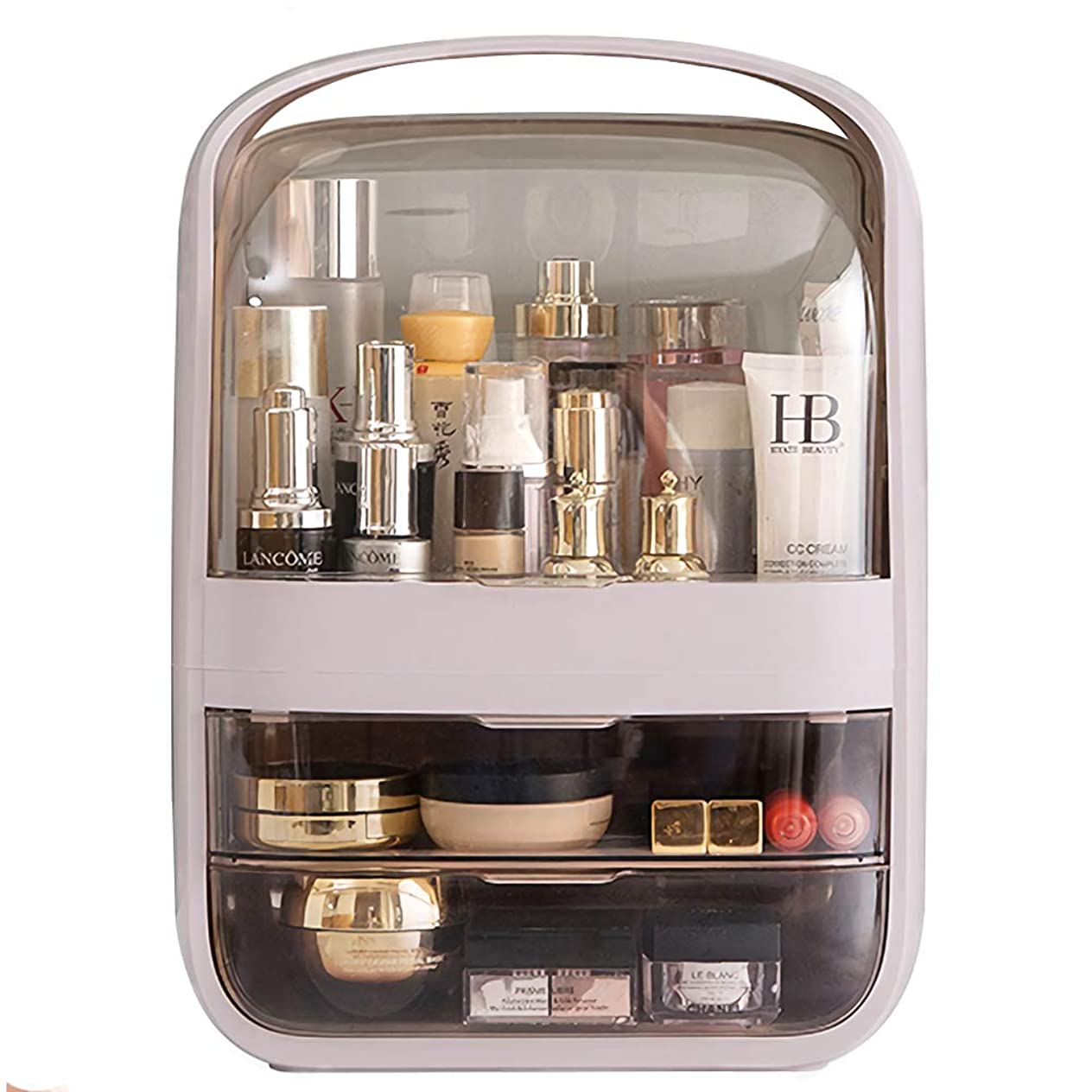 イースタータックル大気MAGIC UNION メイクボックス 化粧品収納ボックス 防塵 防水 大容量 ックス メイクケース 持ち運び 化粧箱 卓上収納 寝室 浴室 洗面所 家庭用