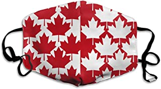 Ubnz50X Canada Maple Leaf Mouth Mask,Unisex Mask Anti-dust Cotton Face Mask for Men and Women