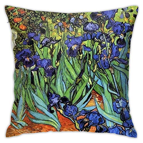 MZZhuBao Happy Halloween45 x 45 cm Van Gogh Irises Purple Fine Art