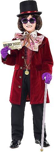 Fancy Me Schokoladen-Kostüm für Jungen, 11 Teile, Woche, Karneval, Halloween, Kostüm, Outfit