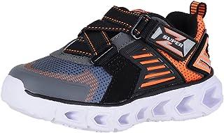 Skechers Boy's, Hypno Flash 2.0 Rapid Quake Light up Sneakers Charcoal/Orange 12.5 M