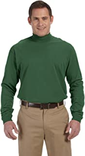 Devon & Jones Men's Sueded Cotton Jersey Mock Turtleneck