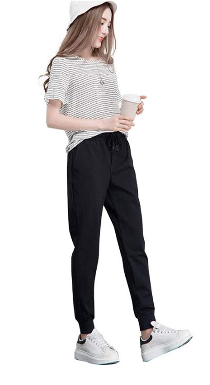 [ディーハウ] ズボン テーパードパンツ ハレムパンツ ロングパンツ レディース メンズ ハイウエスト スポーツ ゆったり 大きいサイズ 無地 カジュアル おしゃれ 春夏秋 男女兼用