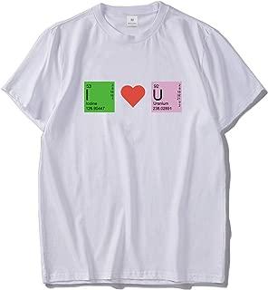 I Love You T-Shirt Chemistry Men Top Creative Design Funny Tees 100% Cotton Men's T-Shirts EU Size