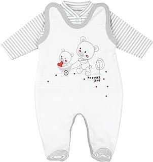 TupTam Baby Unisex Strampler-Set mit Aufdruck Spruch 2-TLG