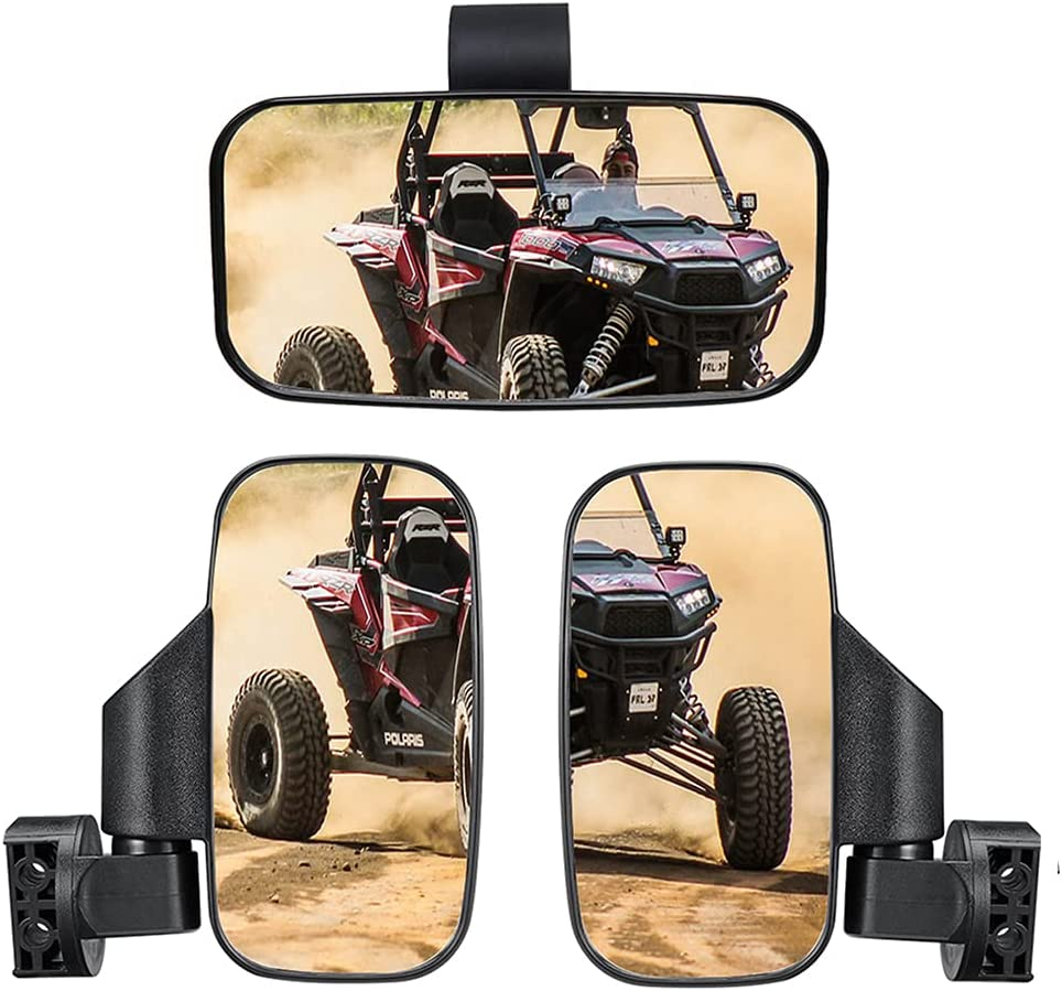 UTV Popular brand Offroad Rearview free Side Mirror Vle and Center Wide Set