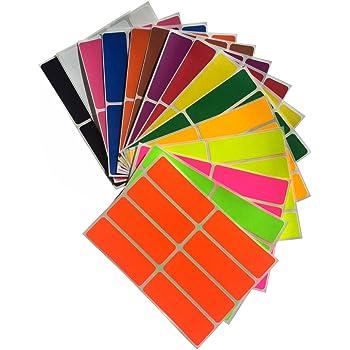 Royal Green Adesivi Rettangolari Colorati Multiuso 40 mm x 19 mm Archivio e Documenti Confezione da 360 Pezzi 4 cm x 1,9 cm Ufficio Scuola Etichette Adesive in 18 Colori Assortiti per Bambini