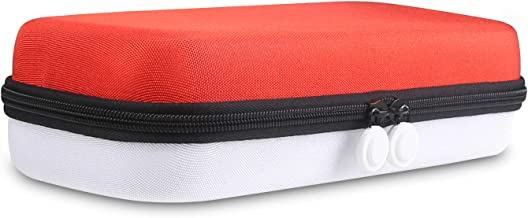 Joyhood Carrying Case for Nintendo Switch RED & WHITE Double Bottom Protective Hard Shell, Fits 29 Game Card Slots Portable Travel Case With Handle and Pouch For Nintendo Switch Console & Accessories
