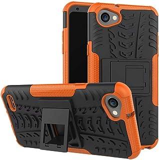 Jtailhne Kompatibel med Fodral LG Q6 Plus, Heavy Duty StöTsäKer Fodral med SparkstäLl Skal PC TPU Hybrid Rugged Armor Oran...