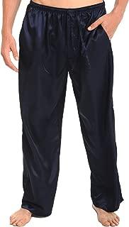 Men's Satin Pajama Pants, Long Pj Bottoms