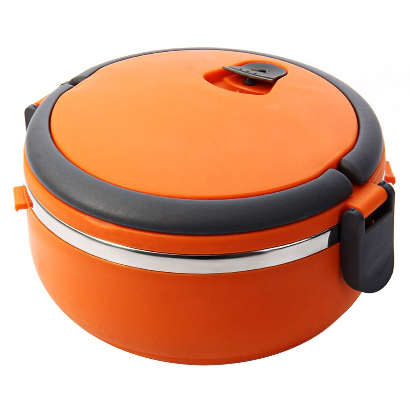 Td stores Lunch Box for Kids Stainless Steel Portable Lunchbox Orange