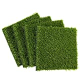 Fake Grass Patch, Synthetic Grass (12 x 0.25 x 12 in, 4-Pack)