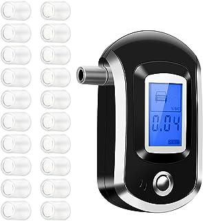 OMorc Alcohol Tester /Éthylom/ètre portable avec 20/embouts buccaux avec capteur et /écran LCD num/érique noir
