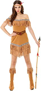 Hide Huntress Women's Halloween Costume Tribal Native American Indian Princess