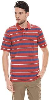 Color Plus Mens Stripe Polo T-Shirt