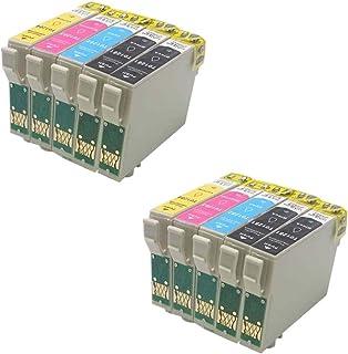 Compatible-Cartucho de tinta para Epson Stylus S22, SX125, SX130 SX235W (10,4 Pack de 2, color negro, cian, 2 Magenta y 2 amarillo)