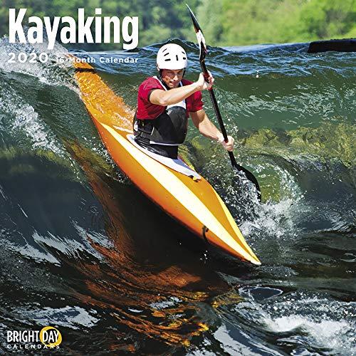 Bright Day 2020 Kajak-Wandkalender für 16 Monate, 30,5 x 30,5 cm, Boote, Wasserboot, Sport