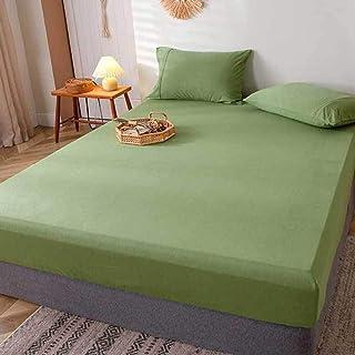 JKCTOPHOME Moderna färger lakan, mjuka och släta lakan, bleknar inte bomullsöverkast – V_180 x 200 cm, ventilerande lakan