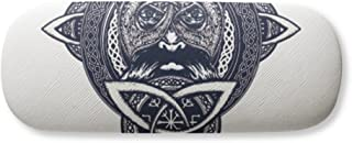 Chinese Dragon People Head Art Pattern Gl Case Eyegl Hard Shell Storage Spectacle Box