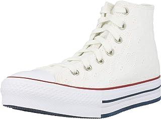 Converse Chuck Taylor All Star Eva Lift Hi Love Ceremony Blanco/Azul (White/Midnight Navy) Algodón Adolescentes Entrenador...