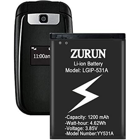 Amazon Com Battery For Lg Lgip 531a Zurun 1200mah Li Ion Battery Replacement Compatible With Lg Ip531 Lgip 531a Sbpl0090501 Sbpl0090503 Un160 Un170 Un200 B450 B460 B470 Ku250 Kf310 Phone Electronics
