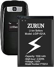 LG LGIP-531A Battery ZURUN 1200mAh Li-ion Battery Replacement Compatible with LG-IP531 / LGIP-531A SBPL0090501 / SBPL0090503 UN160, UN170, UN200, B450, B460, B470, KU250,KF310 Phone.