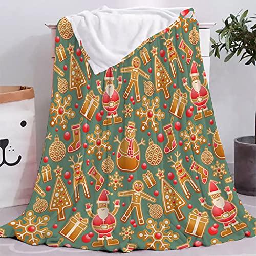 HXSTWW Flanela Fleece Tiro Mantas, Serie de Navidad Oficina Nap Manta Manta de Verano Aire Acondicionado Manta de Franela, súper Suave y Suave Cama sólida cálida Lanza for Sofá Manta