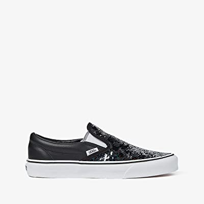 Vans UA Classic Slip-On ((Flipping Sequins) Checkerboard/Black) Shoes