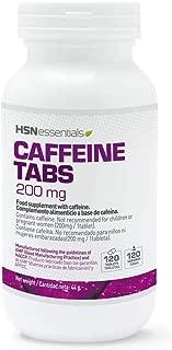 Cafeine Anhydre HSN Essentials     Stimulant Bruleur graisses     Concentration Performance Sportive Sans Lactose  Sans Gluten  Convient aux Vegetaliens 120 Comprimes