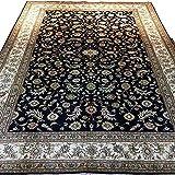 Alfombra de seda hecha a mano pura de 1,5 m por 2,4 m de diseño...