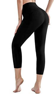 AladdinShare Women's High Waist Yoga Pants - Ultra Soft Compression Workout Running Leggings with Inner Pocket