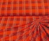 Stoff hochwertiger Feinjersey Jersey orange anthrazit rot