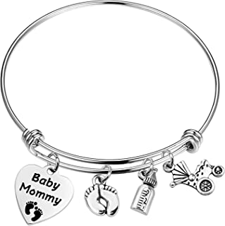 MAOFAED Mother Gift New Mommy Expandable Bracelet Mommy to Be Gift Baby Mommy New Born Jewelry