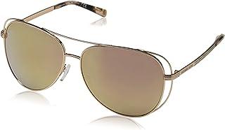 8615dd4345 Michael Kors 0MK1024 Gafas de sol, Shiny Rose Gold/Tone, 58 para Mujer