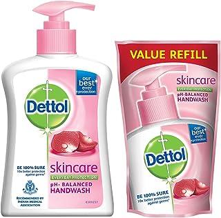 Dettol Skincare Germ Protection Handwash Liquid Soap Pump, 200 ml with Dettol Skincare Germ Protection Handwash Liquid Soa...