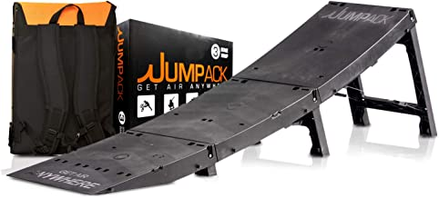 Jumpack - The Portable Fold-up Launch Ramp for BMX, Skateboard, MTB, Scooter, Rollerblade & Snowboard - Folds up into Custom Backpack for Transportation