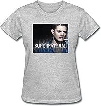 Ufx of Xview Women's Supernatural Dean Winchester Jensen Alkles Short Sleeve T-Shirt
