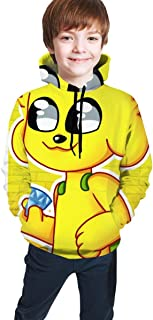 maichengxuan Mikecra-CK Impresión Digital 3D de Moda, Suéter con Capucha para Adolescentes Sudadera con Capucha Cómoda par...