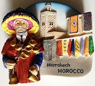 Water Seller Marrakech Morocco High Quality Resin 3D fridge Refrigerator Thai Magnet Hand Made Craft.