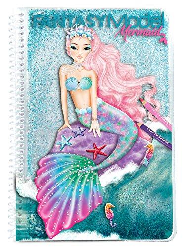 TOPModel 10036 Fantasy Model Libro para Colorear Mermaid